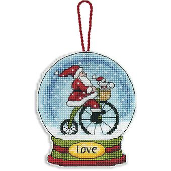Love Snowglobe Counted Cross Stitch Kit-3.75