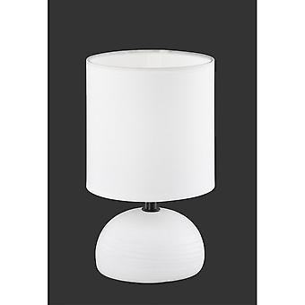 Trio Beleuchtung Luci moderne weiße Keramik Tischleuchte
