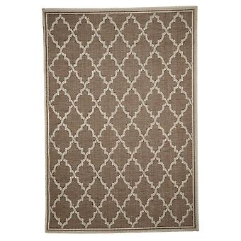 In - and outdoor carpet living room, balcony / terrace brown beige 200 x 290 cm