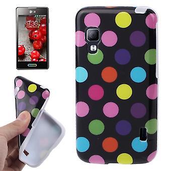 Beschermende case TPU punten van zaak voor mobiele LG Optimus L5 II / E455
