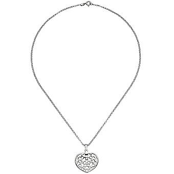 Necklace with heart pendant heart heart 925 sterling silver 45 cm heart pendant