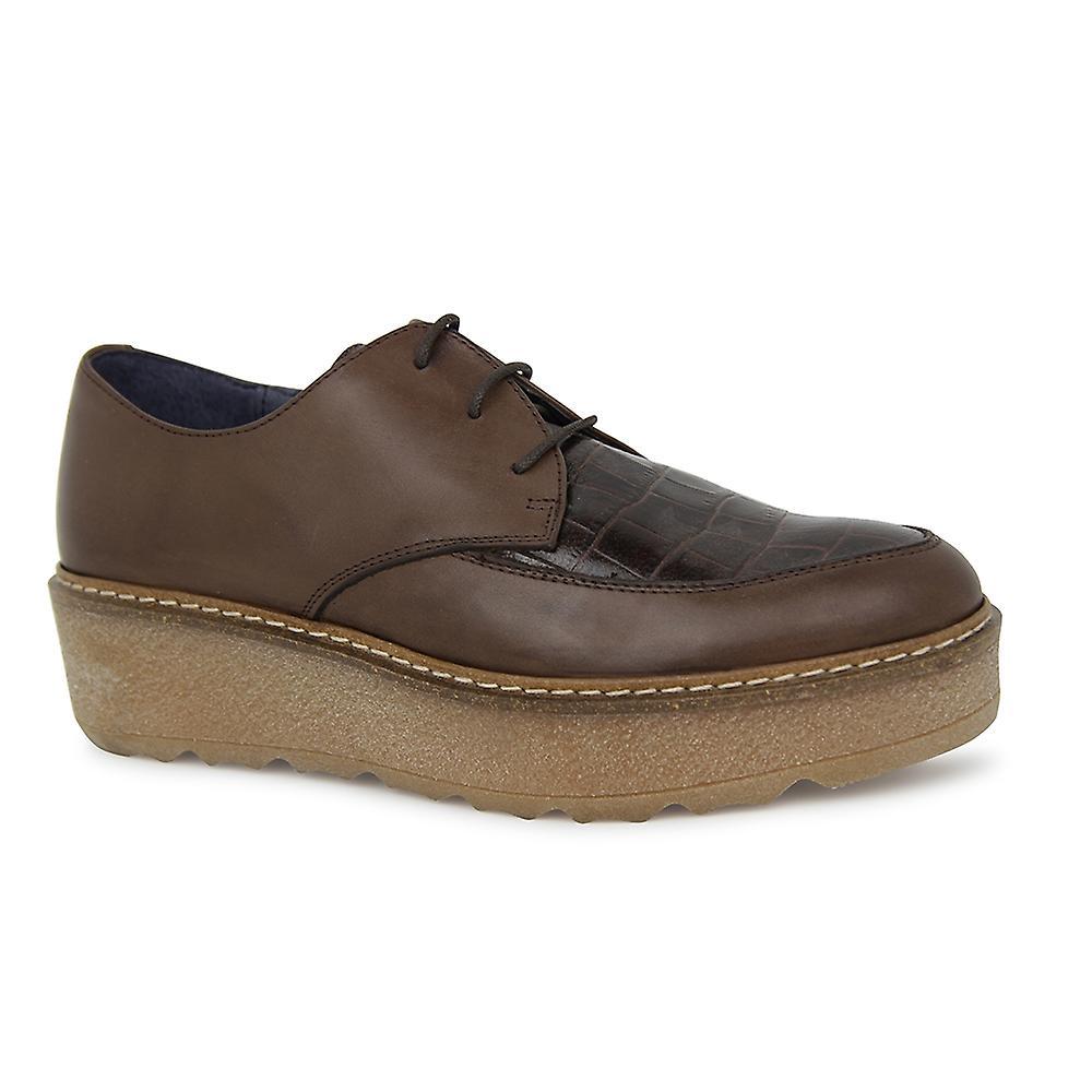 Liberitae chaussures à lacets et bleucher Karin en cuir brun 21703308-01