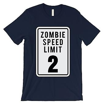 Zombie Speed Limit Mens Navy T-Shirt
