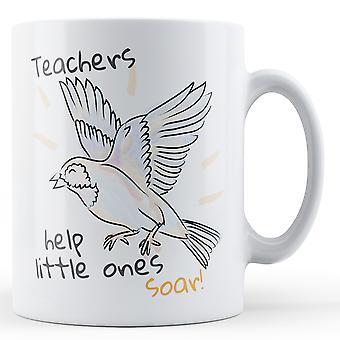 Lärare hjälpa småttingar sväva! Gåva - tryckt mugg