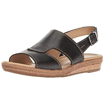 Naturalizer Womens Reese Leather Open Toe Casual Espadrille Sandals