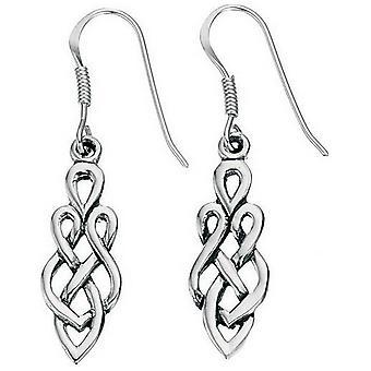 Beginnings Celtic Drop Earrings - Silver