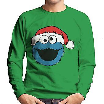 Sesame Street Cookie Monster Christmas Hat Men's Sweatshirt