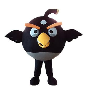 mascot SPOTSOUND of black and yellow, the famous game Angry birds bird