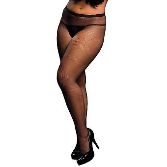 Plus Size Full Figure Fishnet Pantyhose Tights