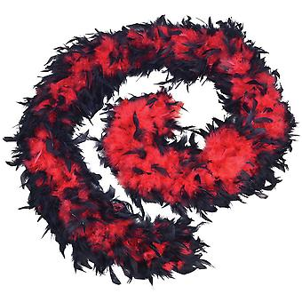 Feather Boa 80g. Red/Black