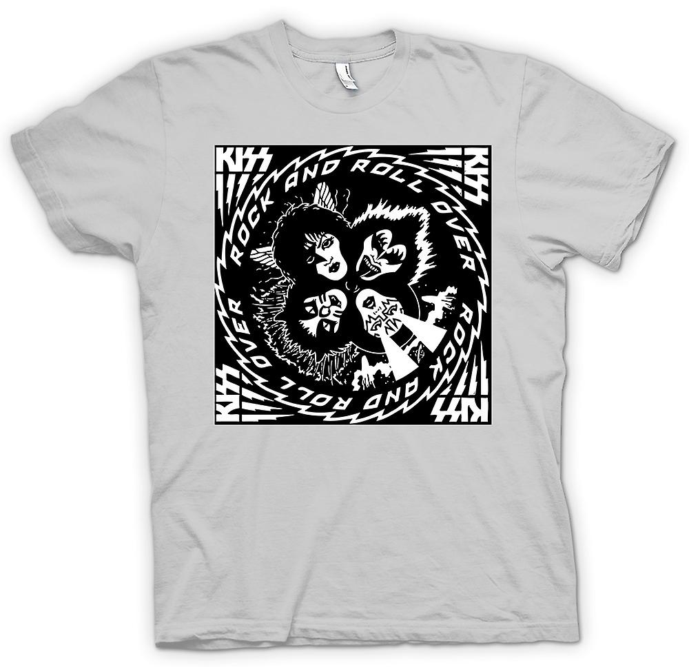 Mens t-shirt - Kiss - Rock And Roll - Over musica