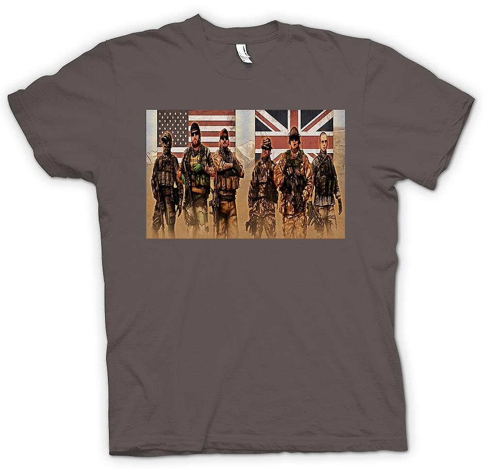 Womens T-shirt-VS en UK Special Forces. SAS en Delta