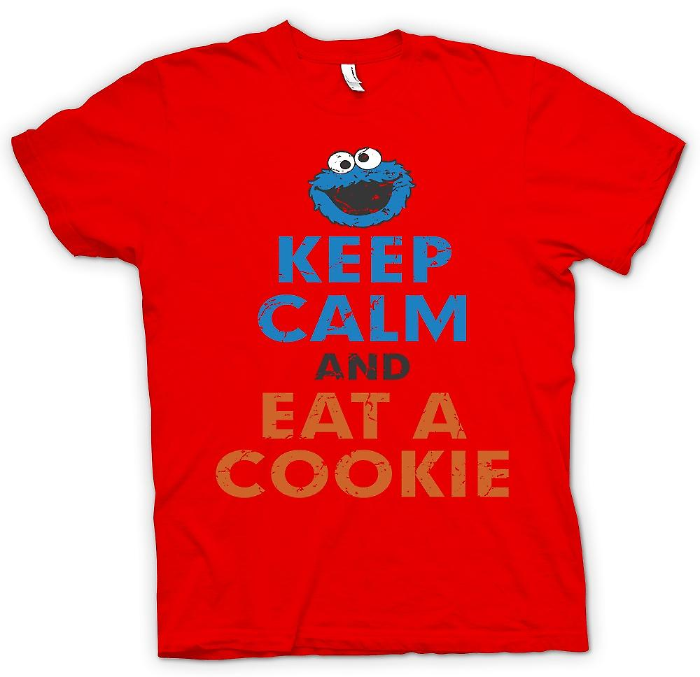 Mens T-shirt - Keep Calm And Eat A Cookie - Cookie Monster