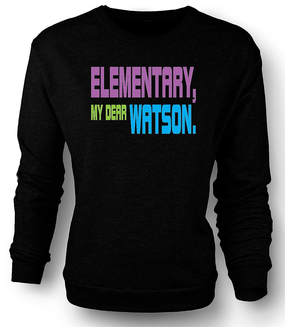 Mens Sweatshirt Sherlock Holmes Elementary - Funny