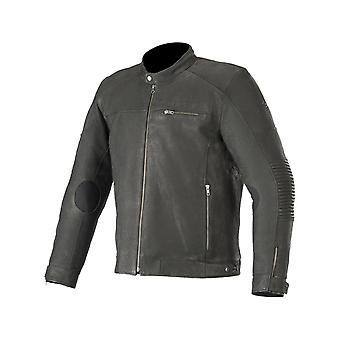 Alpinestars Black Warhorse Motorcycle Leather Jacket