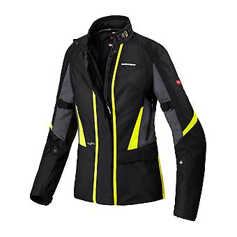 Spidi Black Fluorescent Yellow Traveler 2 H2Out Womens Motorcycle Waterproof Jac