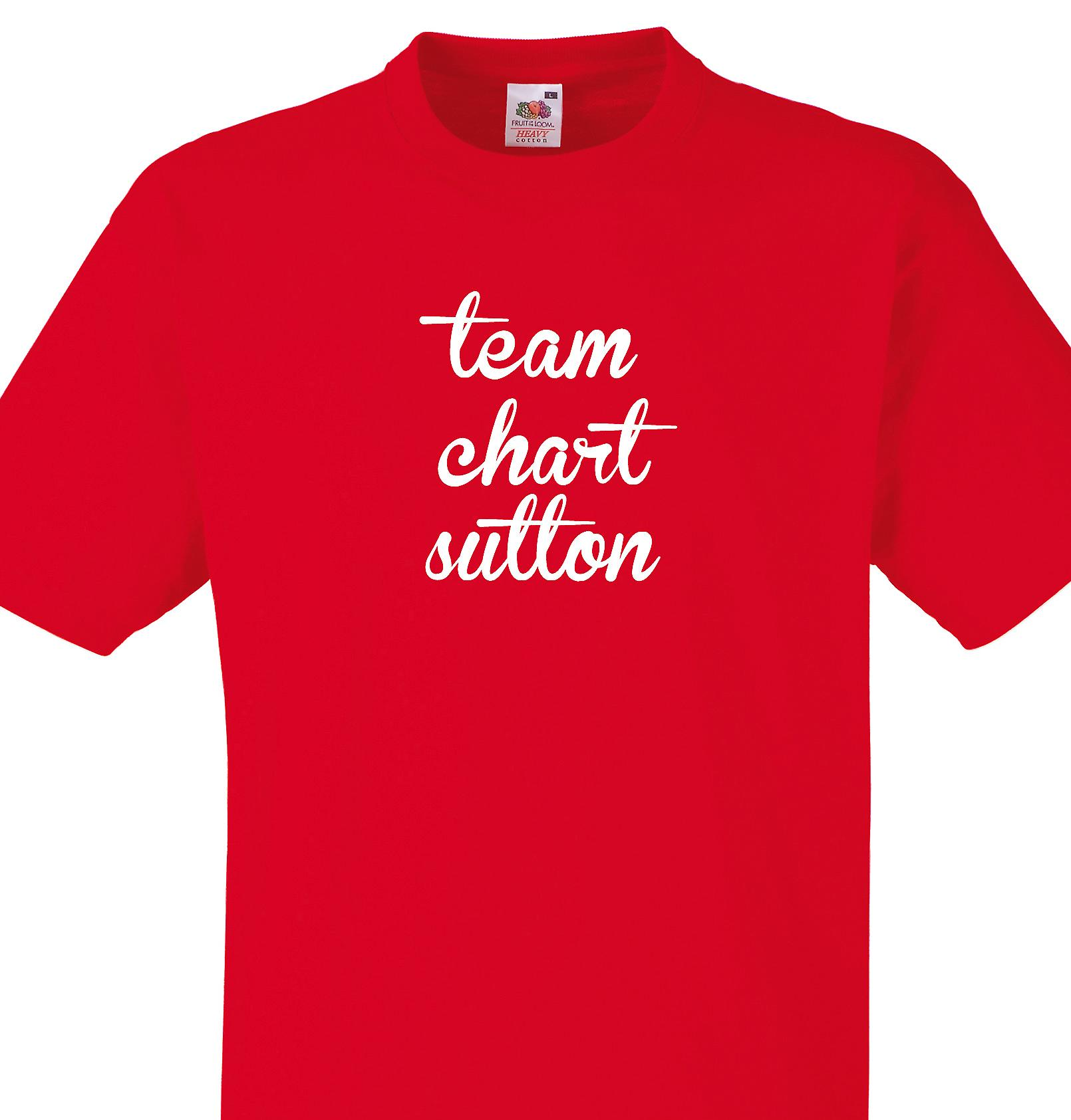 Team Chart sutton Red T shirt