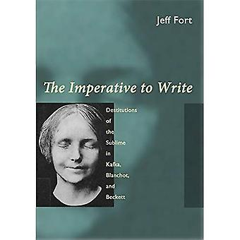 The Imperative to Write: Destitutions of the Sublime in Kafka, Blanchot and Beckett
