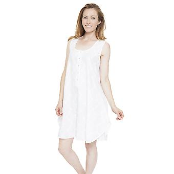 Cyberjammies 1312 Women's Nora Rose Pearl White Floral Print Night Gown Loungewear Nightdress