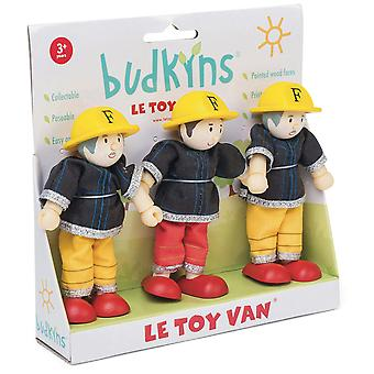 Le Toy Van Traditional Toys Firefighters Triple Pack