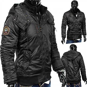 Men's Winter Jacket Blade Core Biker Parker quilted design hood