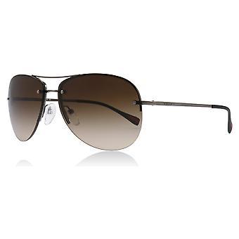 Prada Sport PS50RS 5AV/6S1 Gunmetal PS50RS Pilot Sunglasses Lens Category 3 Size 59mm