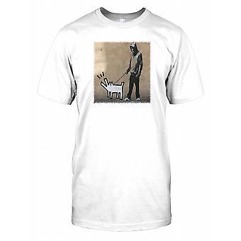Banksy Haring Dog Kids T Shirt