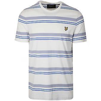 Lyle & Scott Lyle & Scott Cream & blå randig T-Shirt