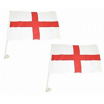 Car Window Flag Pack Of 100 English Cross St Georges Football Flags Brand New - (D75087E)