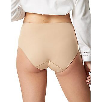 Maison Lejaby 5304P-389 Women's Les Invisibles Power Skin Beige Full Panty Highwaist Brief