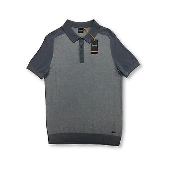 HUGO BOSS Orange Kapwolos polo in blue arl