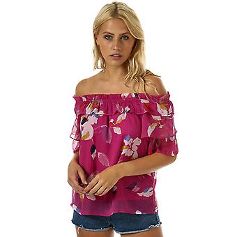 Womens Vero Moda Frida Off The Shoulder Top In Wild Aster