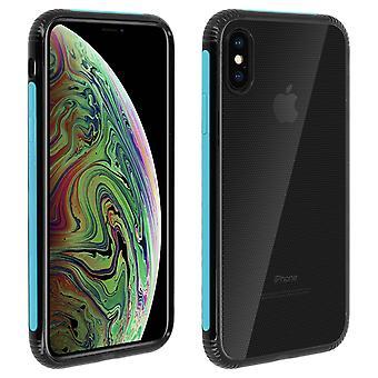 Apple iPhone XS Max Case dubbelt material skydd, lakrits kollektion blå