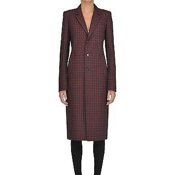 Balenciaga Burgundy Wool Coat