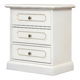 Bedside table with 3 drawers lacquered