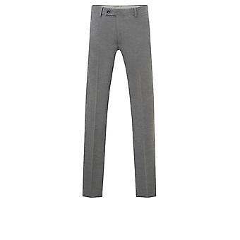 Dobell Mens Light Grey Suit Trousers Regular Fit