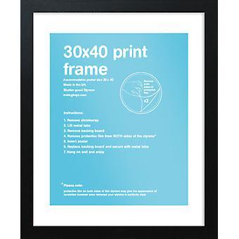 Eton svart ram 30x40cm affisch / Skriv ut ram