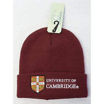 Licensed cambridge university™ ski hat beanie maroon colour