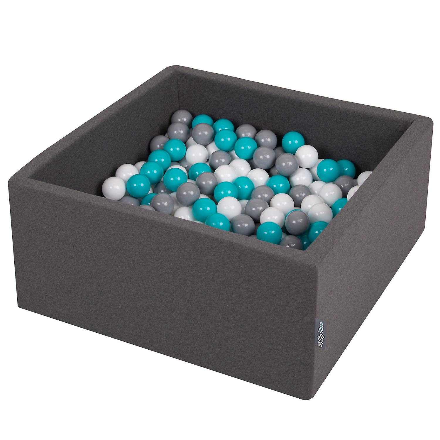Kiddymoon Baby Foam Ball Pit With Balls ∅ 7Cm / 2.75In Square Made In EU