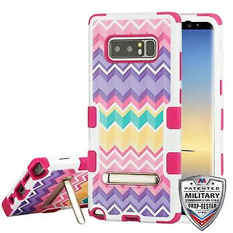 MYBAT Camo Wave/Hot Pink TUFF Hybrid Protector Cover (w/ Stand) for Galaxy Note 8