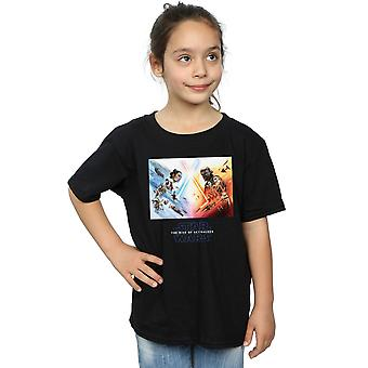 Star Wars The Rise Of Skywalker Battle Poster Girls T-Shirt