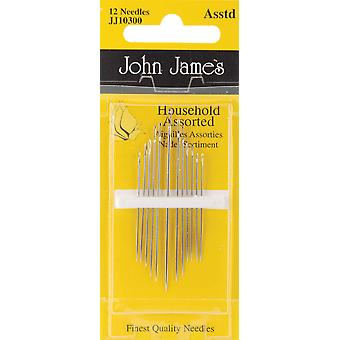 Household Hand Needles Assorted 12 Pkg Jj103 00