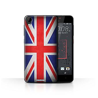 STUFF4 Case/Cover for HTC Desire 825/Great Britain/British/Flags