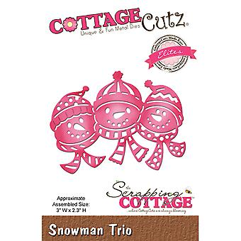 CottageCutz Elites Die -Snowman Trio, 3