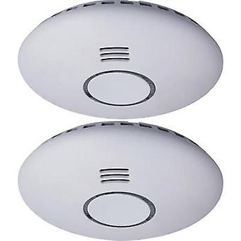 Wireless smoke detector 2-piece set network-compatible Smartwares RM174RF/2 battery-powered