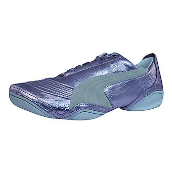Puma Scattista Exotic Womens Leather Trainers / Shoes - Violet