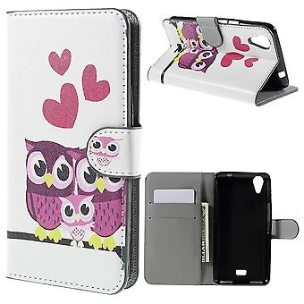 PU leather owls family cover for Kiritkumar Rainbow UP with support and door cards