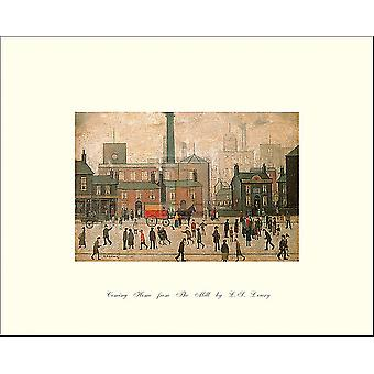 Coming Home From The Mill Poster Print by LS Lowry (10 x 8)