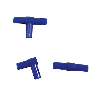 Algarde Airline Connectors 6mm (2xt 2xelbows 2xstraights) (Pack of 12)