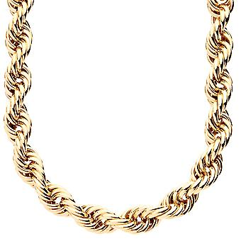 Rope Ying Yang twisted gold cord chain - 10 mm